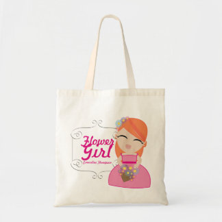 personalized FLOWER GIRL wedding keepsake gift 4 Tote Bag