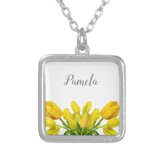 Personalized flower necklace