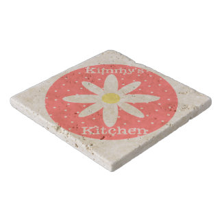 Personalized Flower Stone Trivet