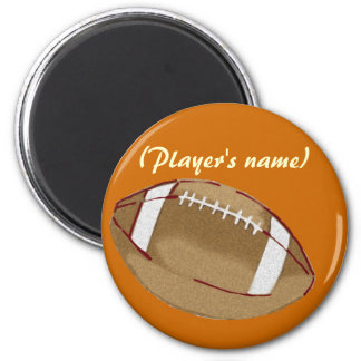 Personalized Football Button 6 Cm Round Magnet