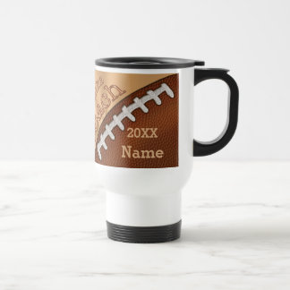 Personalized Football Coach Gifts, NAME and YEAR Travel Mug
