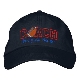 Personalized Football Coach with your name Embroidered Hat