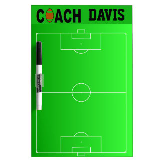 Personalized Football Coach's Field Play Dry Erase Board