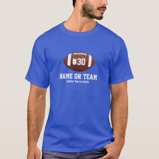 Personalized Football Design Name, Number, Team T-Shirt