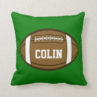 Personalized Football for Boys who love Sports Cushion