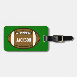 Personalized Football for Boys who love Sports Luggage Tag