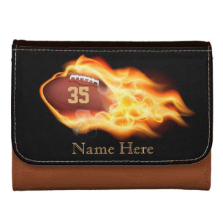 PERSONALIZED Football Leather Wallet for Men Boys