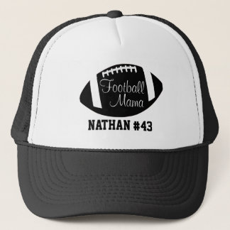 Personalized Football Mama Trucker Hat