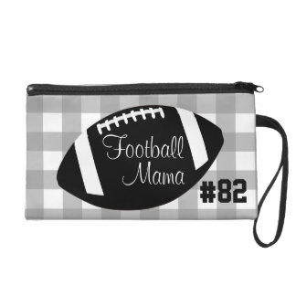 Personalized Football Mama Wristlet
