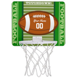 Personalized Football Mini Basketball Hoop
