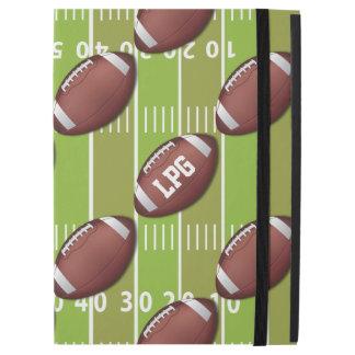 "Personalized Football Pattern on Sports Field iPad Pro 12.9"" Case"