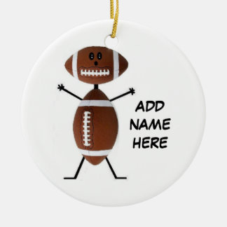 Personalized Football Star Christmas Ornament