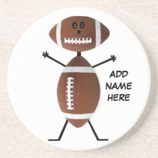 Personalized Football Star Coaster