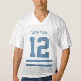 Personalized Football Team Desaturated Dark Blue Men's Football Jersey