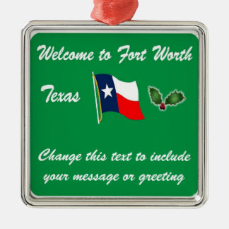 Personalized Fort Worth TX Christmas Ornament