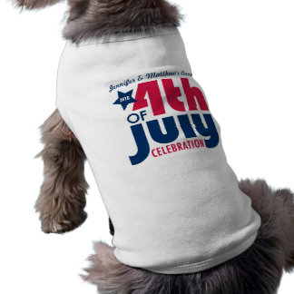Personalized Fourth of July Dog T-Shirt