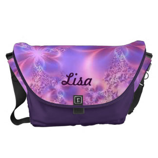 Personalized Fractal Flower Large Messenger Bag