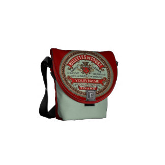Personalized French Apothecary Label Commuter Bag