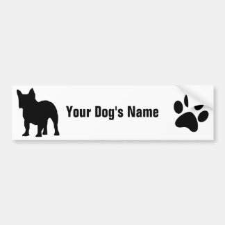Personalized French Bulldog フレンチ・ブルドッグ Bumper Sticker