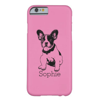 Personalized French Bulldog Puppy Pick Your Color Barely There iPhone 6 Case