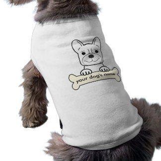 Personalized French Bulldog Sleeveless Dog Shirt