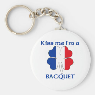 Personalized French Kiss Me I'm Bacquet Basic Round Button Key Ring