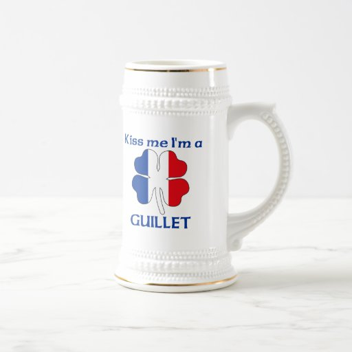 Personalized French Kiss Me I'm Guillet Coffee Mugs