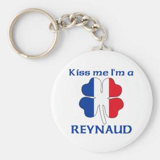Personalized French Kiss Me I'm Reynaud Key Ring