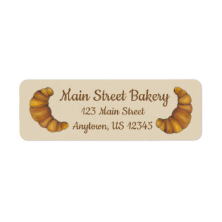 Personalized French Pastry Croissant Bakery Chef