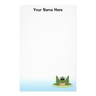 Personalized Frog Stationery