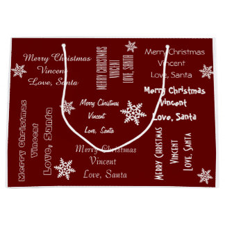 Personalized From Santa Christmas Large Gift Bag