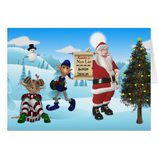 Personalized From The North Pole Santa Christmas Card
