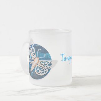 Personalized Frosted Glass Mug with Night Moths