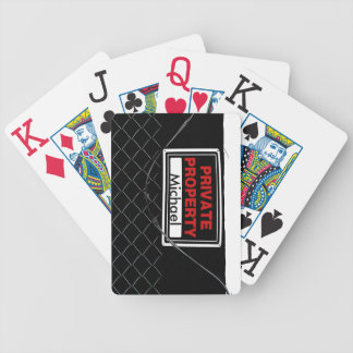 Personalized Fun Cool Unique Monogram Great Gift Bicycle Playing Cards