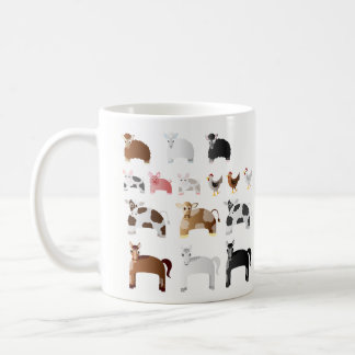Personalized Fun Farm Animals Coffee Mug