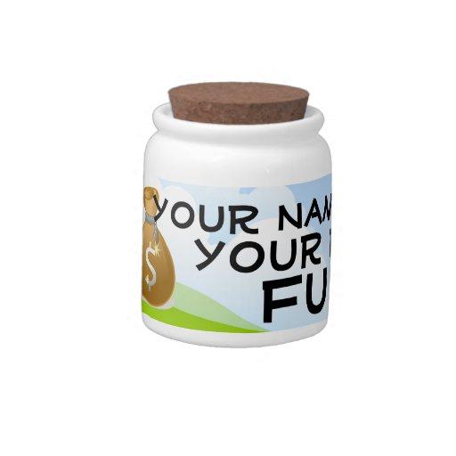 Personalized Fund Money Saving Bank Jar Candy Dish