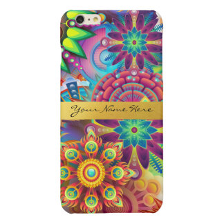 Personalized Funky Boho Floral Flame Mandalas iPhone 6 Plus Case