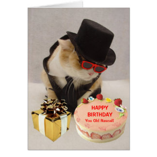 Personalized Funny Birthday Greeting Card