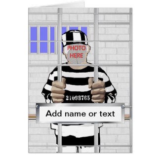 Personalized funny face Convict template Card