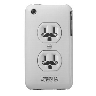 Personalized Funny Mustache Power Outlet iPhone 3 Covers