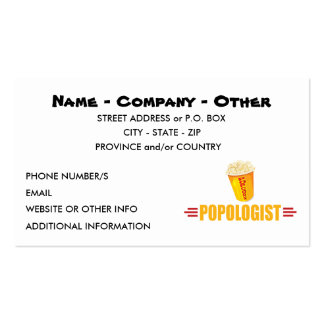 Personalized Funny Popcorn Pack Of Standard Business Cards