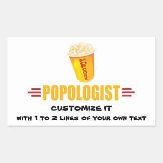Personalized Funny Popcorn Rectangular Sticker