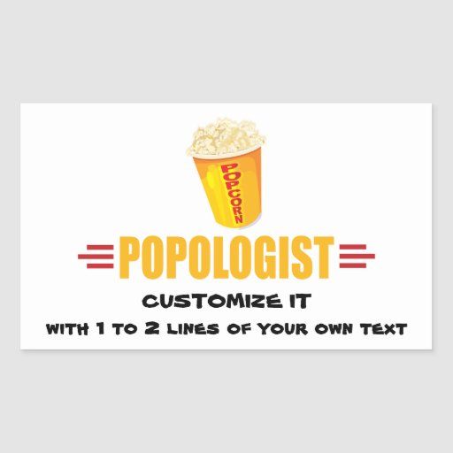 Personalized Funny Popcorn Sticker