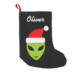 Personalized funny santa alien Christmas stocking
