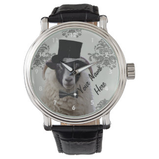 Personalized funny sheep  character watch