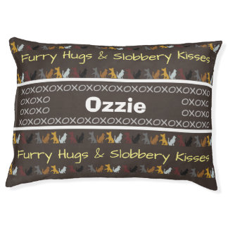 Personalized Furry Hugs & Slobbery Kisses Pet Bed
