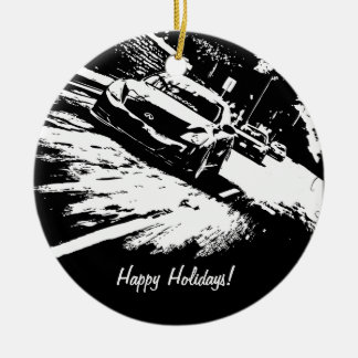 Personalized G37 Coupe Rolling shot xmas ornaments