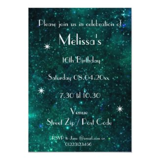 Personalized Galaxy Party Invitation