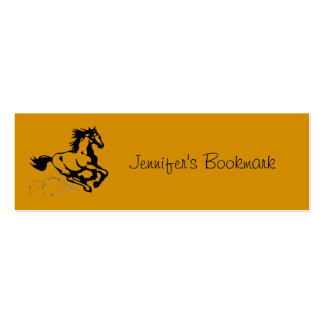 Personalized Galloping Horse Wild and Free Pack Of Skinny Business Cards