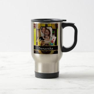 Personalized gambler travel mug